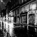 Paris At Night - Rue Saints Peres by Miles Whittingham