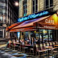 Paris Cafe by Marvin Blaine