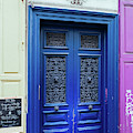 Paris Door In Bright Blue by Georgia Fowler