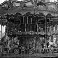 Paris Merry Go Round In Mono by Georgia Fowler