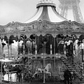 Paris Monochrome Carousel by Georgia Fowler