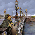 Paris-pont Alexandre Terzo by Guido Borelli
