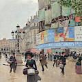 Paris, Rue Du Havre Circa 1882 by Jean Beraud