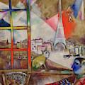 Paris Through The Window - Paris Par La Fenetre, 1913 by Marc Chagall