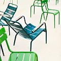 Parisian Metallic Chairs In The City by Anatoli Styf