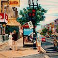 Park Avenue Colorful City Scene Canadian Landscape C Spandau Quebec Artist Montreal Fine Art         by Carole Spandau