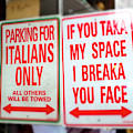 Parking For Italians Only New York City by John Rizzuto