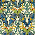 Parrot Pattern Design by Charles Francis Annesley Voysey