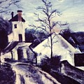 Pastel Study From Europe by J Vincent Scarpace