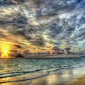 Pastel Sunrise 2 Lanikai Beach Oahu Hawaii Seascapes Art by Reid Callaway