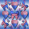 Patriotic Butterflies Hearts by Rockin Docks