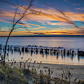 Peaceful Sunset At Sandy Hook by Imma Barrera