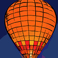 Peach Hot Air Balloon Night Glow In Abstract by Kirt Tisdale