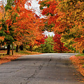 Peak Fall Colors In New Salem Massachusetts by Jeff Folger