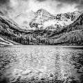 Peaks Of Maroon Bells - Aspen Colorado Monochrome 1x1 by Gregory Ballos