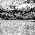 Peaks Of Maroon Bells - Aspen Colorado Monochrome by Gregory Ballos