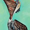 Pelican On The Edge by Patti Schermerhorn