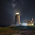 Pemaquid Point And The Milky Way by Kristen Wilkinson