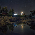 Pemaquid Point Lighthouse Under The Night Sky by Kristen Wilkinson