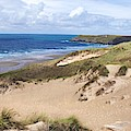 Penhale Sands Perranporth Cornwall by Scenes of Cornwall