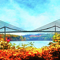 Penobscot Narrows Bridge In Autumn by Anita Pollak