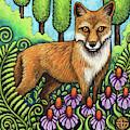 Pensive Fox by Amy E Fraser