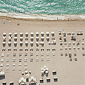 People At Beach, Using Rows Of Beach by John Humble