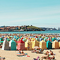 People Relaxing On Gijón Beach by Roc Canals Photography