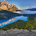 Peyto Lake Spring Morning Reflections by Adam Jewell