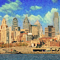 Philadelphia Skyline by Zapista Zapista