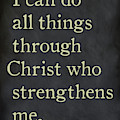 Philippians 4 13- Inspirational Quotes Wall Art Collection by Mark Lawrence