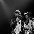 Photo Of Bruce Springsteen And Steven by Fin Costello