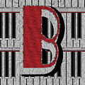 Piano Deco Monogram B by Cecely Bloom