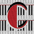 Piano Deco Monogram C by Cecely Bloom
