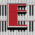 Piano Deco Monogram E by Cecely Bloom
