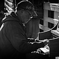 Piano Man I Bw by David Gordon