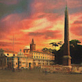 Piazza Del Popolo Rome by Leigh Kemp