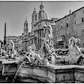 Piazza Navona In Rome by Wolfgang Stocker