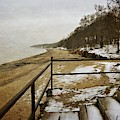 Pier Cove Beach With Steps by Michelle Calkins