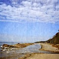 Pier Cove With Big Sky by Michelle Calkins