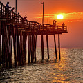 Pier Fishing At Sunrise 3216 by Dan Beauvais