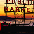 Pike Place Market Sign, Seattle by Lonely Planet
