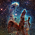 Pillars Of Creation Visible And Ir by Weston Westmoreland