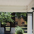 Pillars Of Officers Quarters And Arched Passage At Fort Stanton New Mexico by Colleen Cornelius