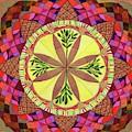 Pine Cone Mandala by Sandy Thurlow
