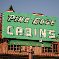 Pine Edge Cabins Neon Sign by Edward Fielding