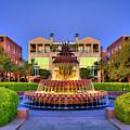 Pineapple Fountain Sunrise Reflections Waterfront Park Charleston South Carolina Art by Reid Callaway