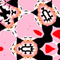 Pink And Black Abstract 7 by Artist Dot