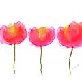 Pink Beauties Watercolor Painting by Karen Kaspar