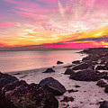 Pink Cloud Trails by Ashleena Valene Taylor